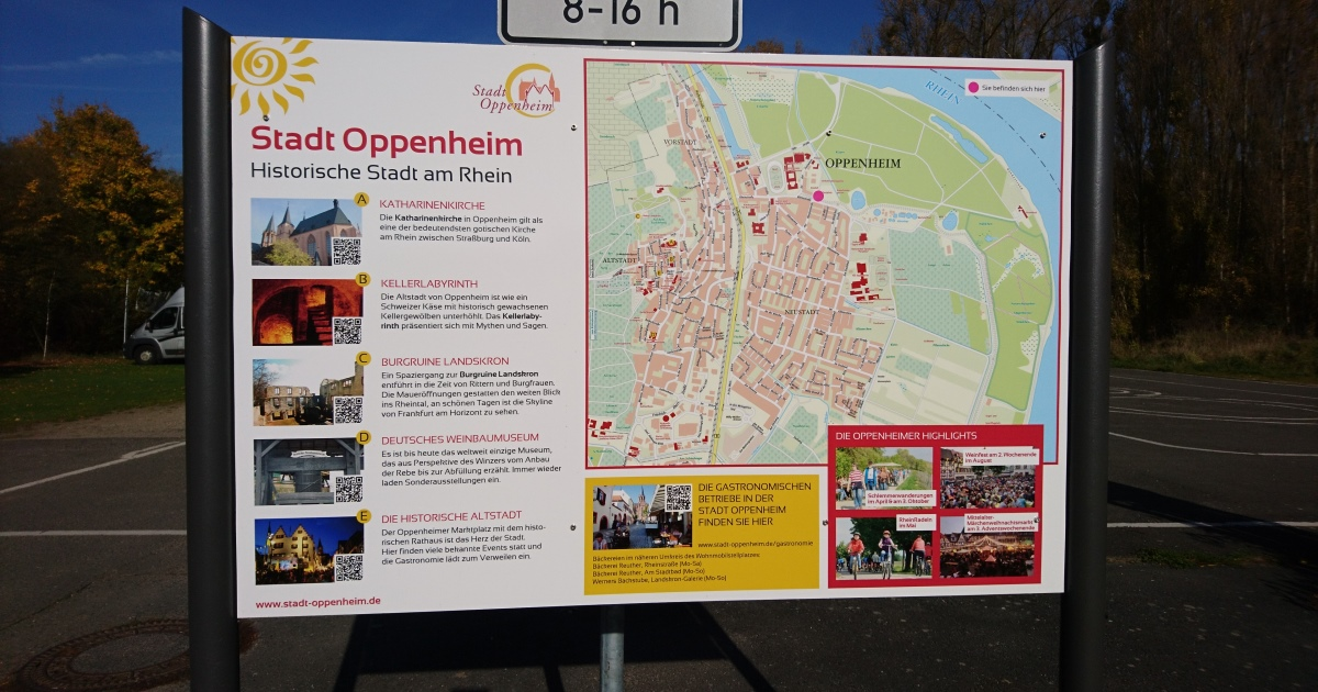 Neue Info-Tafeln in Oppenheim